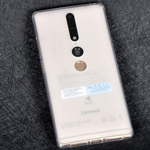 Силиконовый матовый полупрозрачный чехол для Lenovo Phab 2 Pro Белый