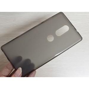 Силиконовый матовый полупрозрачный чехол для Lenovo Phab 2 Plus Черный