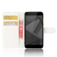 Чехол портмоне подставка на силиконовой основе с отсеком для карт на магнитной защелке для Xiaomi RedMi 4X Белый