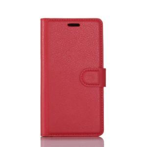 Чехол портмоне подставка на силиконовой основе с отсеком для карт на магнитной защелке для HTC U Play  Красный