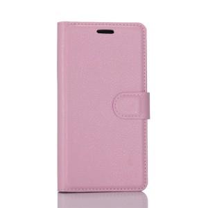 Чехол портмоне подставка на силиконовой основе с отсеком для карт на магнитной защелке для HTC U Play  Розовый