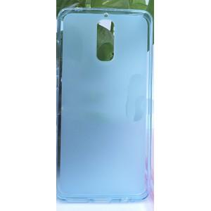 Силиконовый матовый полупрозрачный чехол для Huawei Mate 9 Pro Голубой