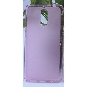 Силиконовый матовый полупрозрачный чехол для Huawei Mate 9 Pro Розовый
