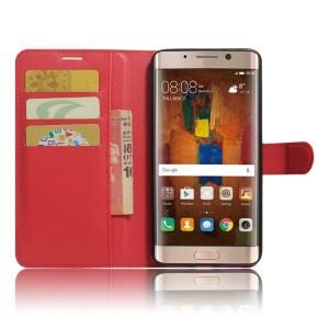 Чехол портмоне подставка на силиконовой основе с отсеком для карт на магнитной защелке для Huawei Mate 9 Pro