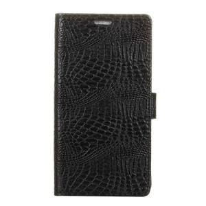 Чехол портмоне подставка текстура Крокодил на силиконовой основе с отсеком для карт на магнитной защелке для Huawei Mate 9 Pro