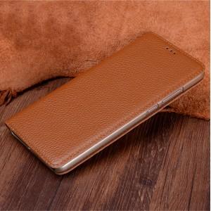 Кожаный чехол горизонтальная книжка (премиум нат. кожа) для Huawei Mate 9 Pro
