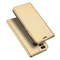 Кожаный чехол портмоне подставка на силиконовой основе с отсеком для карт для Asus ZenFone 3 Zoom  Бежевый