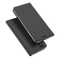 Кожаный чехол портмоне подставка на силиконовой основе с отсеком для карт для Asus ZenFone 3 Zoom  Черный
