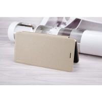 Чехол горизонтальная книжка на пластиковой нескользящей премиум основе для Asus ZenFone 3 Zoom  Бежевый
