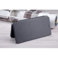 Чехол горизонтальная книжка на пластиковой нескользящей премиум основе для Asus ZenFone 3 Zoom  Черный