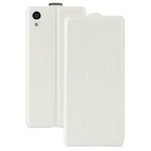 Чехол вертикальная книжка на силиконовой основе с отсеком для карт на магнитной защелке для Sony Xperia XA1 Белый