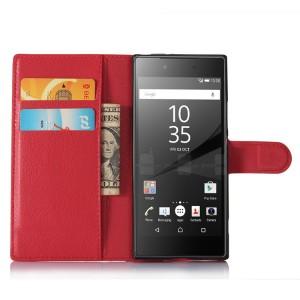 Чехол портмоне подставка на силиконовой основе с отсеком для карт на магнитной защелке для Sony Xperia XA1