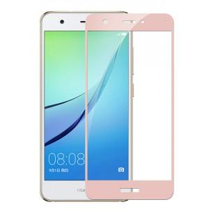 Полноэкранное ультратонкое износоустойчивое сколостойкое олеофобное защитное стекло-пленка для Huawei Nova Розовый