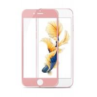 Полноэкранное ультратонкое износоустойчивое сколостойкое олеофобное защитное стекло-пленка для Iphone 6/6s Красный