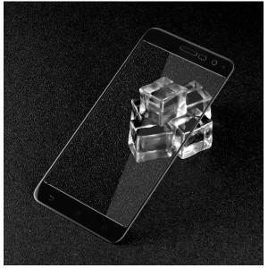 Полноэкранное ультратонкое износоустойчивое сколостойкое олеофобное защитное стекло-пленка для Asus ZenFone 3 5.2 Черный