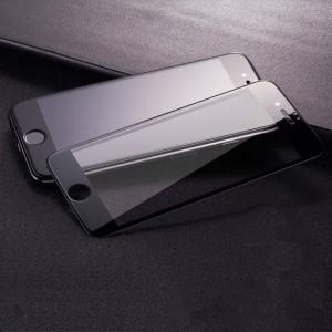 Полноэкранное ультратонкое износоустойчивое сколостойкое олеофобное защитное стекло-пленка для Iphone 7/8 Черный