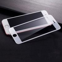 Полноэкранное ультратонкое износоустойчивое сколостойкое олеофобное защитное стекло-пленка для Iphone 7/8 Белый