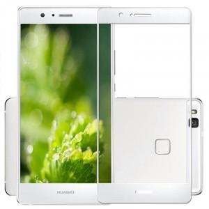 Полноэкранное ультратонкое износоустойчивое сколостойкое олеофобное защитное стекло-пленка для Huawei P9 Lite Белый
