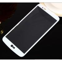 Полноэкранное ультратонкое износоустойчивое сколостойкое олеофобное защитное стекло-пленка для LG K10  Белый