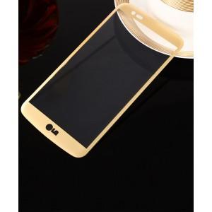 Полноэкранное ультратонкое износоустойчивое сколостойкое олеофобное защитное стекло-пленка для LG K10