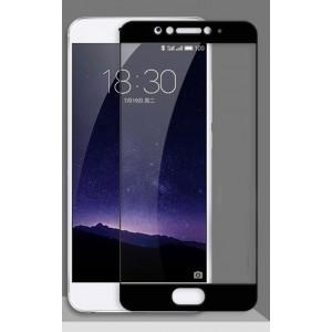 Полноэкранное ультратонкое износоустойчивое сколостойкое олеофобное защитное стекло-пленка для Meizu U20  Черный