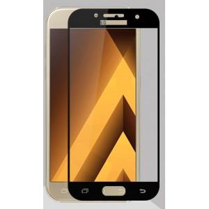 Полноэкранное ультратонкое износоустойчивое сколостойкое олеофобное защитное стекло-пленка для Samsung Galaxy A3 (2017)