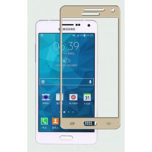 Полноэкранное ультратонкое износоустойчивое сколостойкое олеофобное защитное стекло-пленка для Samsung Galaxy A5 Бежевый