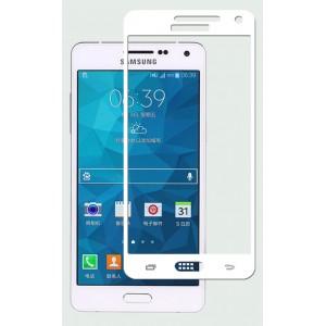 Полноэкранное ультратонкое износоустойчивое сколостойкое олеофобное защитное стекло-пленка для Samsung Galaxy A5 Белый