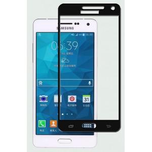 Полноэкранное ультратонкое износоустойчивое сколостойкое олеофобное защитное стекло-пленка для Samsung Galaxy A5 Черный
