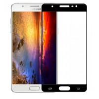 Полноэкранное ультратонкое износоустойчивое сколостойкое олеофобное защитное стекло-пленка для Samsung Galaxy J7 (2016)  Черный