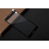 Полноэкранное ультратонкое износоустойчивое сколостойкое олеофобное защитное стекло-пленка для Samsung Galaxy Note 4  Черный