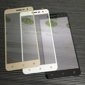 Полноэкранное ультратонкое износоустойчивое сколостойкое олеофобное защитное стекло-пленка для Asus ZenFone 3 5.5 Бежевый