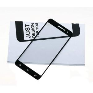 Полноэкранное ультратонкое износоустойчивое сколостойкое олеофобное защитное стекло-пленка для Asus ZenFone 3 5.5 Черный
