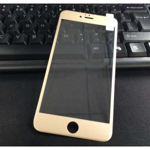 Полноэкранное ультратонкое износоустойчивое сколостойкое олеофобное защитное стекло-пленка для Iphone 6 Plus/6s Plus Бежевый