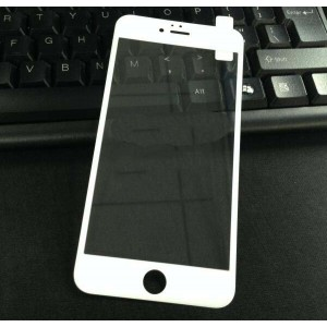 Полноэкранное ультратонкое износоустойчивое сколостойкое олеофобное защитное стекло-пленка для Iphone 6 Plus/6s Plus Белый
