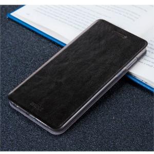 Чехол горизонтальная книжка подставка на силиконовой основе для Meizu M5  Черный