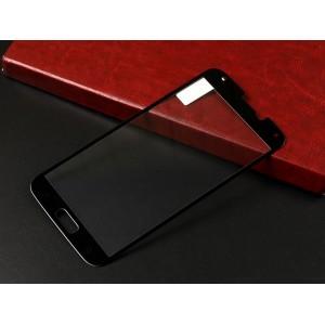 Ультратонкое износоустойчивое сколостойкое олеофобное защитное стекло-пленка для Samsung Galaxy S5 (Duos) Черный