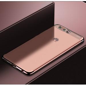 Силиконовый глянцевый полупрозрачный чехол для Huawei P10