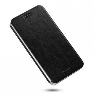 Глянцевый водоотталкивающий чехол флип подставка на силиконовой основе для Meizu M5 Черный
