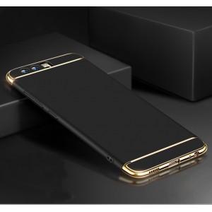 Пластиковый непрозрачный матовый сборный чехол с улучшенной защитой элементов корпуса для Huawei P10