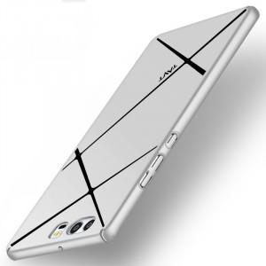 Пластиковый непрозрачный матовый чехол с текстурным покрытием Металл для Huawei P10