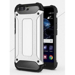 Двухкомпонентный силиконовый матовый непрозрачный чехол с поликарбонатными бампером и крышкой для Huawei P10