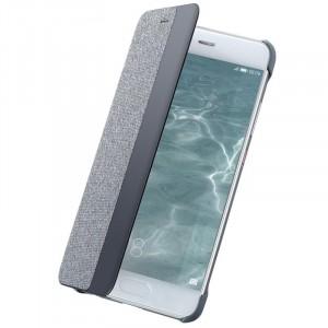 Оригинальный винтажный кожаный чехол горизонтальная книжка на пластиковой основе с тканевым покрытием и окном вызова для Huawei P10