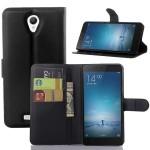 Чехол портмоне подставка на пластиковой основе с отсеком для карт на магнитной защелке для Xiaomi RedMi Note 2