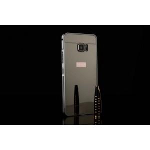 Двухкомпонентный чехол c металлическим бампером с поликарбонатной накладкой и зеркальным покрытием для HTC U Ultra