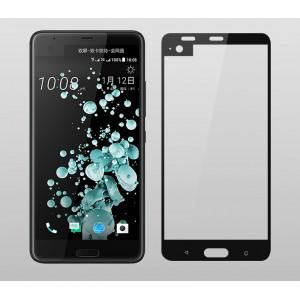 Полноэкранное ультратонкое износоустойчивое сколостойкое олеофобное защитное стекло-пленка для HTC U Ultra