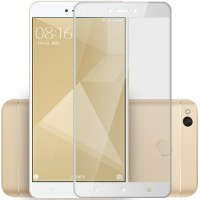 Полноэкранное ультратонкое износоустойчивое сколостойкое олеофобное защитное стекло-пленка для Xiaomi RedMi 4X Белый