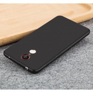 Силиконовый матовый непрозрачный чехол для ZTE Nubia Z11 Max Черный