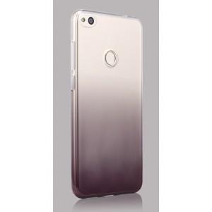 Силиконовый глянцевый полупрозрачный градиентный чехол для Huawei Honor 8 Lite