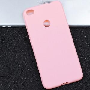 Силиконовый матовый непрозрачный чехол для Huawei Honor 8 Lite  Розовый